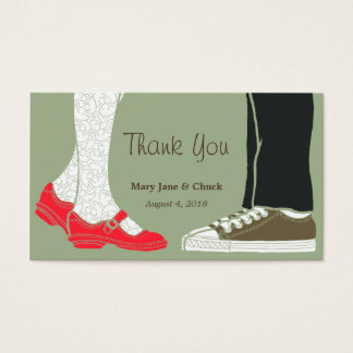 Girly Shoes & Sneakers Illustrated Wedding (Camo) Business Card