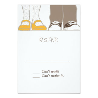 Girly Shoes & Sneakers Illustrated Wedding Card