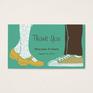 Girly Shoes & Sneakers Illustrated Wedding (Mint) Business Card