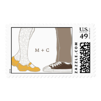 Girly Shoes & Sneakers Illustrated Wedding Postage