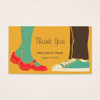 Girly Shoes & Sneakers Illustrated Wedding Yellow Business Card
