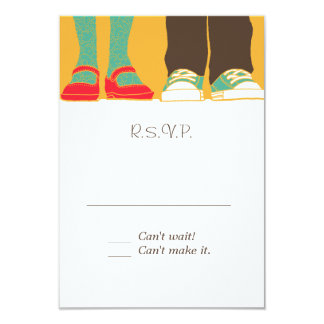 Girly Shoes & Sneakers Illustrated Wedding Yellow Card