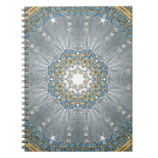 girly Silver blue Sequins Diamond print fashion Spiral Notebook