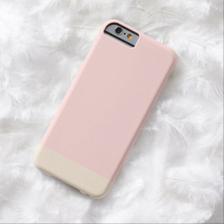 Girly Simple Plain Pink Gold Solid Color Barely There iPhone 6 Case