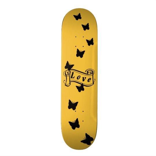 Girly skateboard in orange with Butterfly