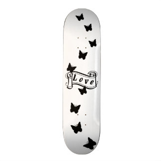 Girly skateboard Love with Butterfly