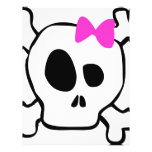 "Girly skull 8.5"" x 11"" flyer"