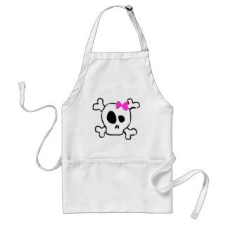 Girly skull adult apron