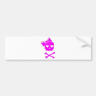 Girly Skull and Cross Bones Bumper Stickers