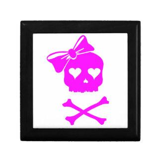 Girly Skull and Cross Bones Jewelry Box