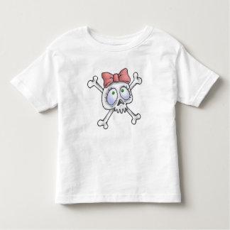 Girly Skull and Cross Bones Toddler T-shirt