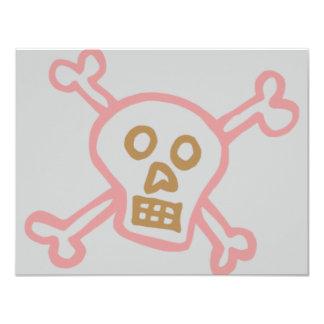 GIRLY SKULL AND CROSSBONES CARD