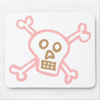 GIRLY SKULL AND CROSSBONES MOUSE PAD