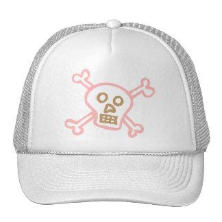 GIRLY SKULL AND CROSSBONES TRUCKER HAT