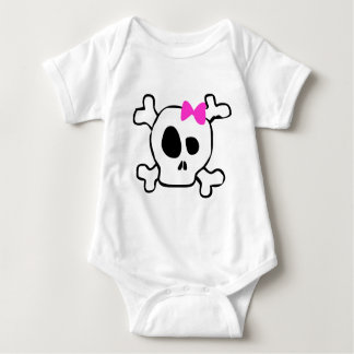 Girly skull baby bodysuit