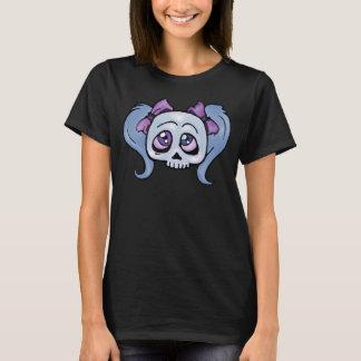 Girly Skull Blue T-Shirt