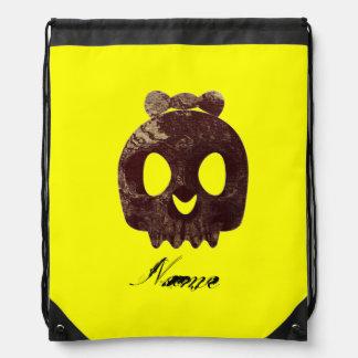 Girly Skull Bow  Grunge Drawstring Bag