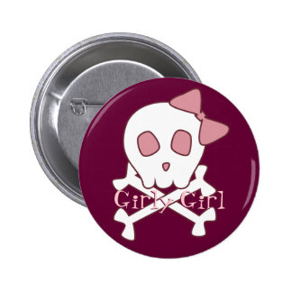 Girly Skull Button