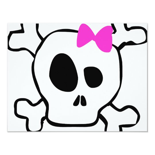 Girly skull card