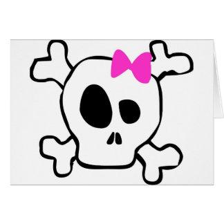 Girly skull card