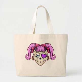 Girly Skull Design Tote Bags