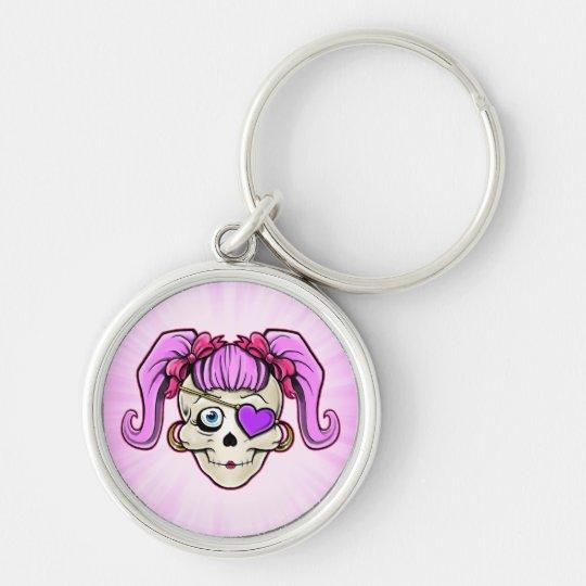 Girly Skull Design Keychain