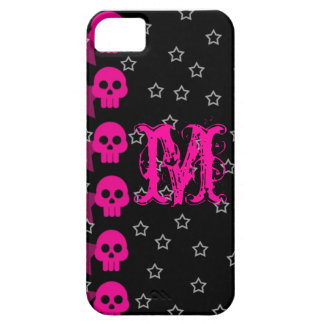 Girly Skull EMO Punk Rocker Monogram IPHONE 5 Case