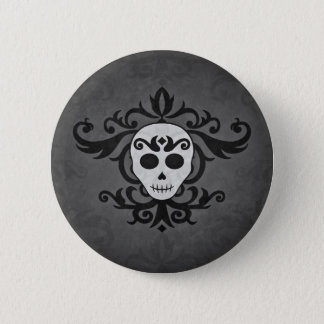 Girly skull Halloween Pinback Button