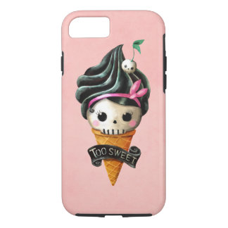 Girly Skull Ice Cream Cone iPhone 7 Case