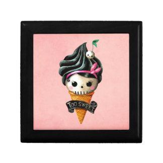 Girly Skull Ice Cream Cone Keepsake Box