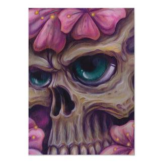 "girly skull 4.5"" x 6.25"" invitation card"