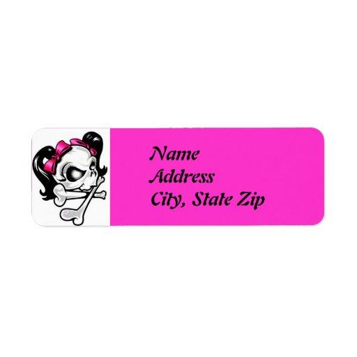 Girly Skull Label