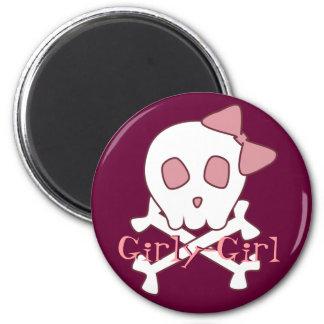 Girly Skull Magnet