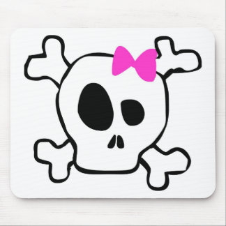 Girly skull mouse pad