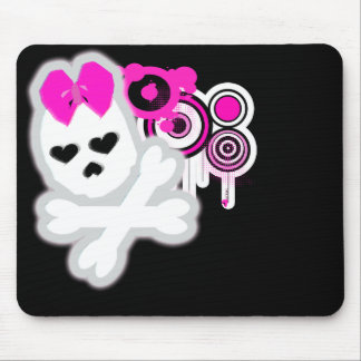 Girly SKull Mousepad