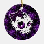 Girly Skull Ornament