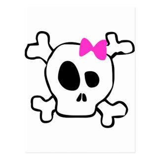 Girly skull postcard