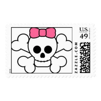 Girly Skull Stamps