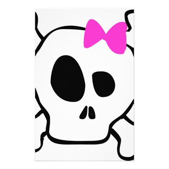 Girly skull stationery