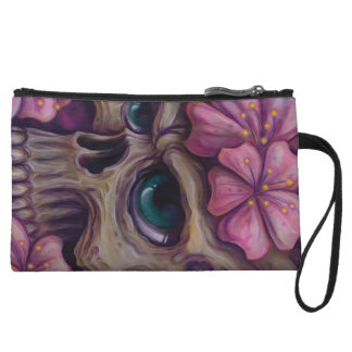 girly skull wristlet wallet