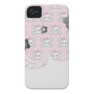 girly skulls and crossbones punk pattern blackberry cases