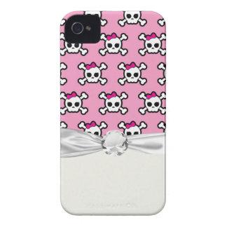 girly skulls and crossbones punk pattern iPhone 4 case