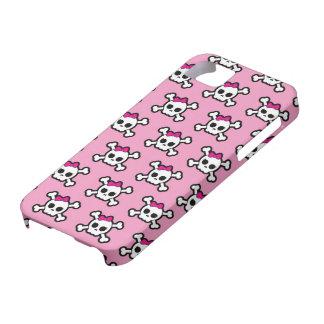 girly skulls and crossbones punk pattern iPhone SE/5/5s case
