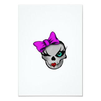 Girly Skully Card