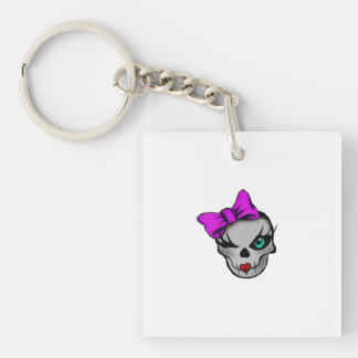 Girly Skully Keychain