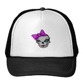 Girly Skully Trucker Hat