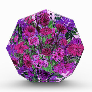 Girly Soft Lilac Pretty Purple Flowers Paperweight Acrylic Award