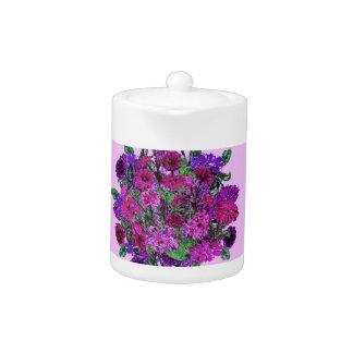 Girly Soft Lilac w Pretty Purple Flowers Pitcher