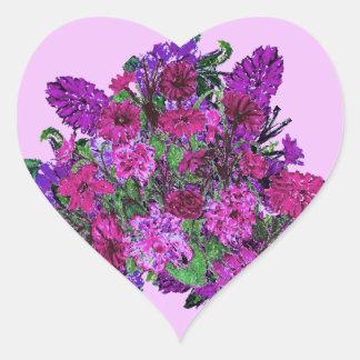 Girly Soft Lilac w Pretty Purple Flowers Stickers