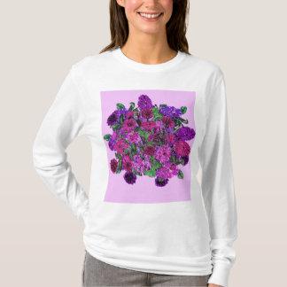 Girly Soft Lilac w Pretty Purple Flowers Tshirt